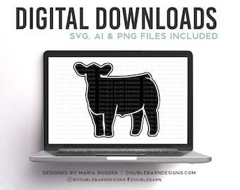 Front Steer Digital Download - SVG - PNG - AI Files - Show Cattle Design