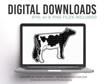 Gurnsey Cow Digital Download