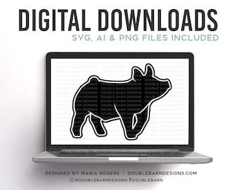 Walking Show Pig Digital Download