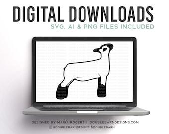 Ewe Lamb | Show Ewe Design | Show Lamb | Digital Downloads - SVG, PNG, Ai Files | Commercial License