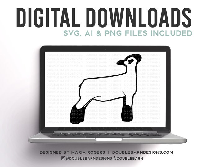 Ewe Lamb   Show Ewe Design   Show Lamb   Digital Downloads - SVG, PNG, Ai Files   Commercial License