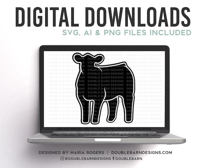 Front Heifer Digital Download - PNG - SVG - Show Cattle