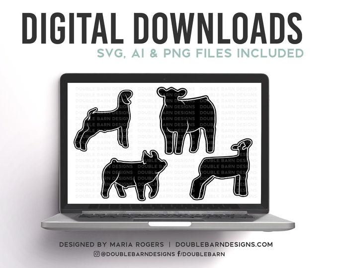 BUNDLE DEAL! | Show Pig, Show Lamb, Show Goat, Show Heifer Bundle of Digital Downloads | 60 Dollar Value