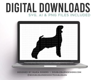 Market Goat Silhouette Digital Download