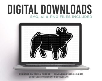 DRIVING SHOW GILT Digital Download  - Svg - Png - Ai - Show Pig Design