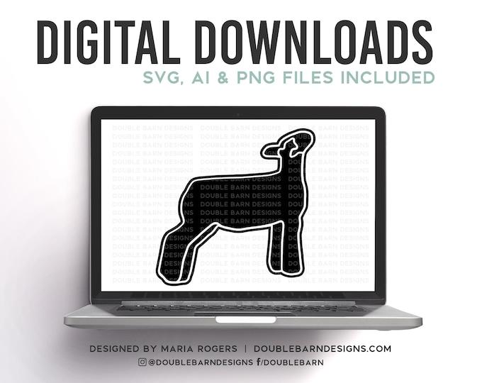 Lamb Profile Digital Download