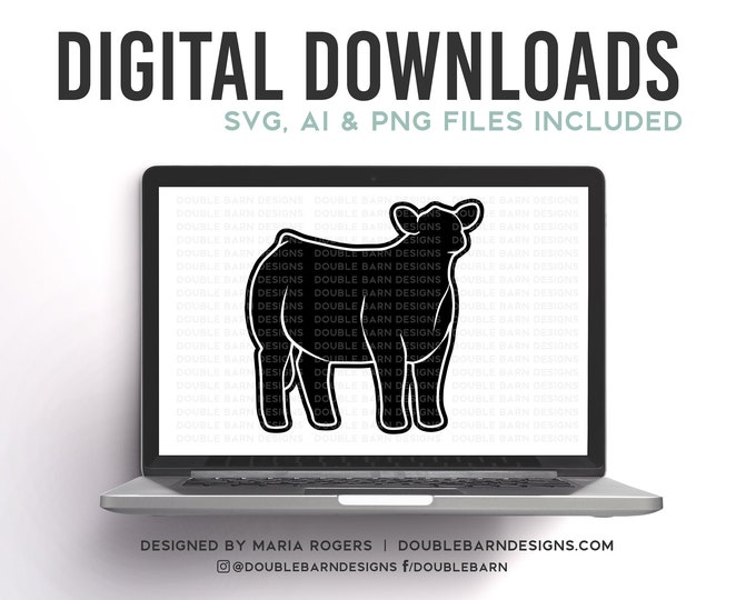3/4 Steer Design Digital Download
