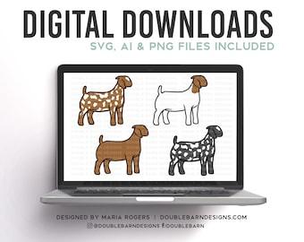 Doe Breeds | Bundle of Digital Downloads | SVG, PNG, Ai | Commercial License
