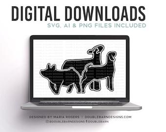 Market Lamb, Pig & Goat Digital Download