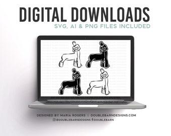 Lamb Showmen Designs | Boy and Girl Option | Bundle of Digital Downloads | SVG, PNG, Ai |Commercial License