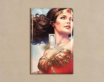 Wonder Woman Single Toggle Light Switch Cover Decorative Switch Plate Cover