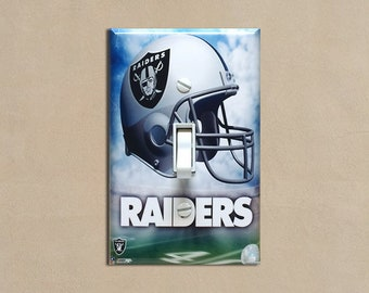 a495ee612f96 NFL - Oakland Raiders - Light Switch Plate Covers Home Decor Outlet