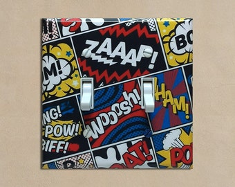 Comic Book Sound Effects #2 - Light Switch Plate Covers Home Decor Outlet