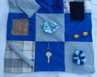 Sensory Quilt For Alzheimer And Dementia Patients Fidget Blanket Gift Lap