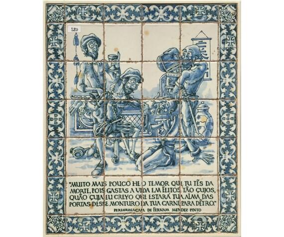 120. portoghese piastrelle pannello installato su telaio di etsy
