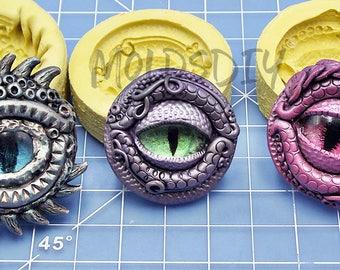 Dragon Eye Set Mold / Flexible Push Mold / Silicone Mold / Fondant Mold / Polymer Clay Mold / Resin Mold / Food Safe Mold / MOLD #909192