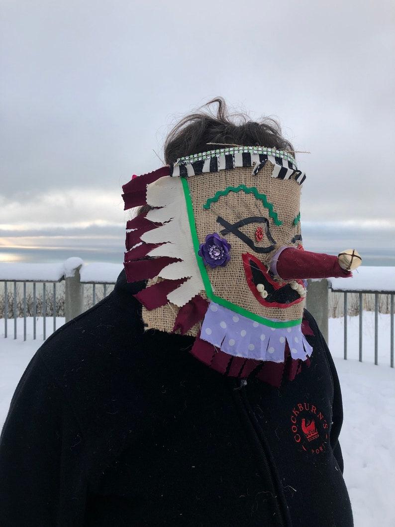 Cajun Masquerade Carnival Mask for Chicken Chase Cajun Mardi Gras Mask