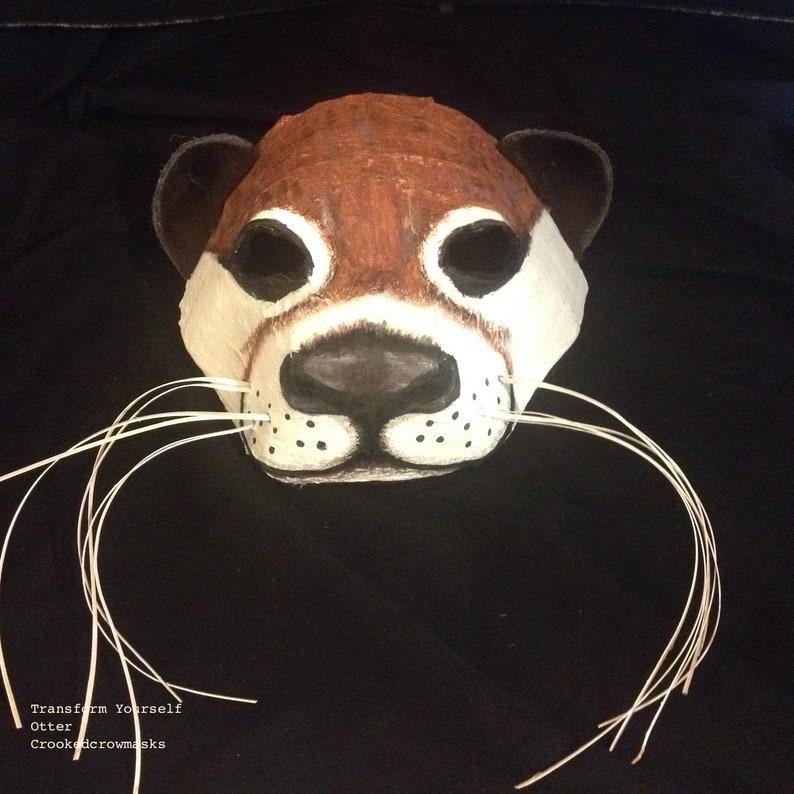 Handmade Adult Halloween Mask Animal Masquerade Mask Custom Props Otter Mask -Sea Otter Mask