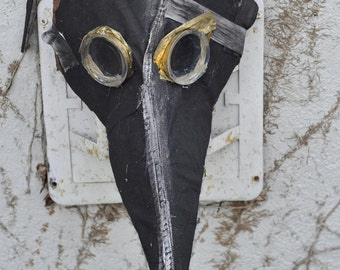 plague doctor mask paper mache steampunk masquerade
