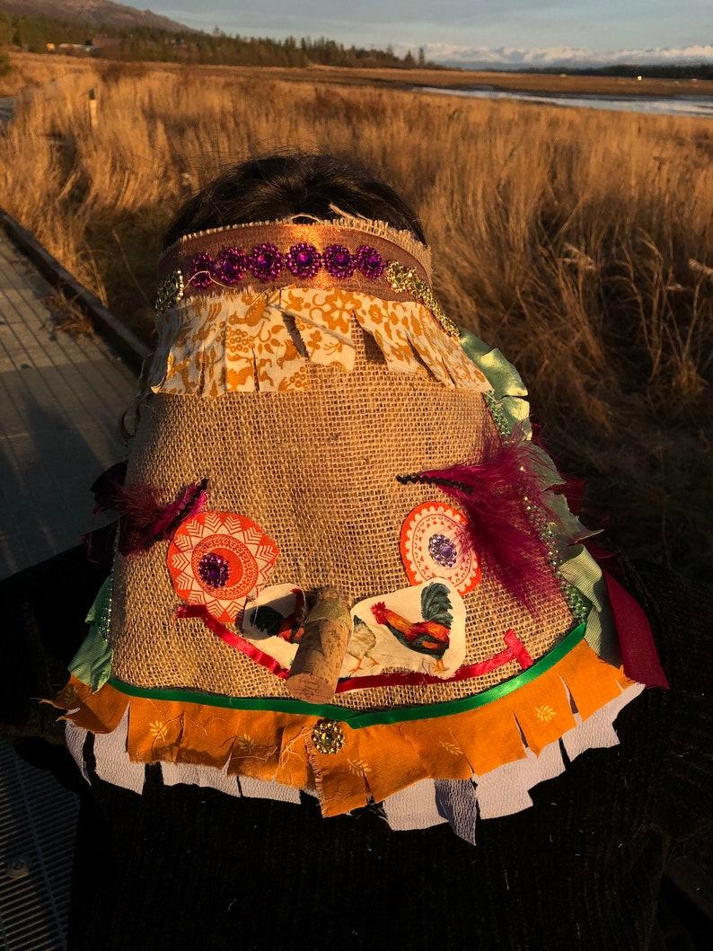 Cajun Chicken Chase Outfit Cajun Mardi Gras Mask