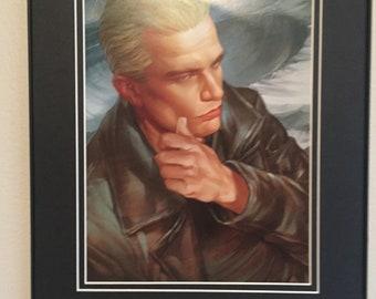 Buffy the Vampire Slayer Franed Comic Illustration (Spike)