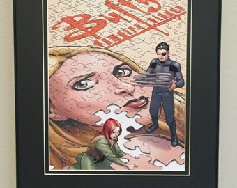 Buffy the Vampire Slayer Framed Comic Illustration (Buffy, Willow, and Xander)