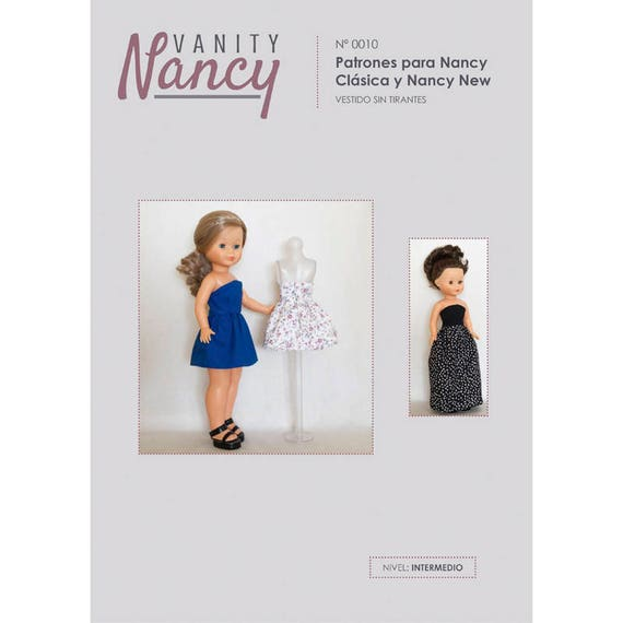 Patr\u00f3n descargable de vestido sin tirantes para Nancy