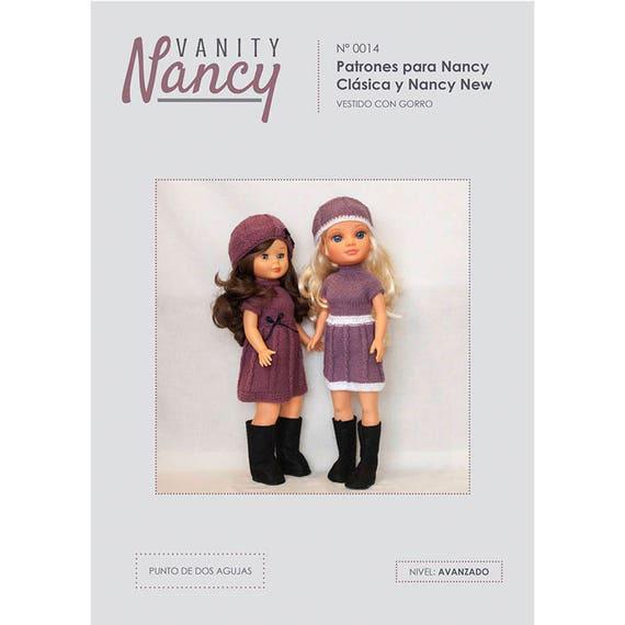 Patrón de vestido y gorro de punto para Nancy de Famosa | Etsy