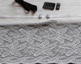 Black & White French Lace Bra Kit (Standard)