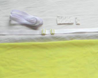 "Yellow & White ""Basics"" Bra Kit (Standard Strength)"