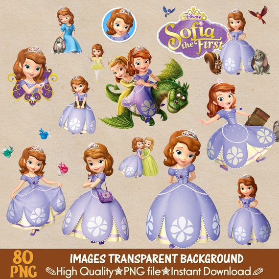 Sofia The First Clipart Png Princesse Disney Sofia Des Etsy