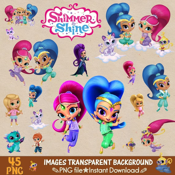 Shimmer And Shine Clipart Shimmer And Shine Png Shimmer And Etsy