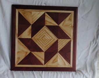 Wood Quilt Block Windblown Square