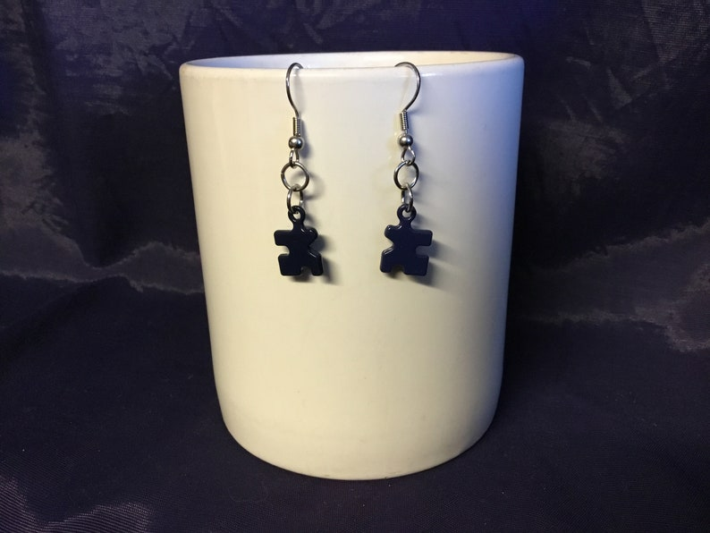 Autism Awareness Puzzle Piece Dangle Earrings Silver Gift Girls Women/'s New