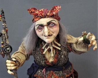 Baba Yaga: Witch/Hag/Crone cloth doll pattern