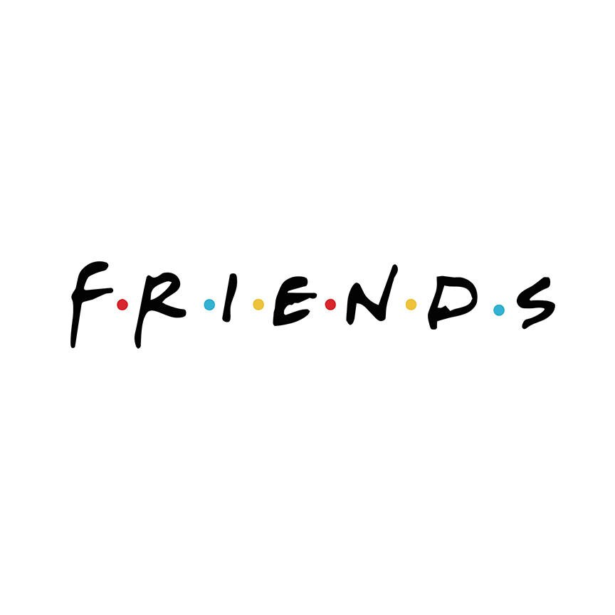 Friends Sticker TV Show Logo High Quality Decal Auto Car