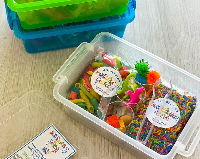 Featured listing image: Sensory play kit - includes everything you need to set up multiple versions of a sensory play bin for your little one!