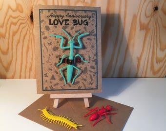 Happy Anniversary Love Bug! - Handmade Anniversary Card