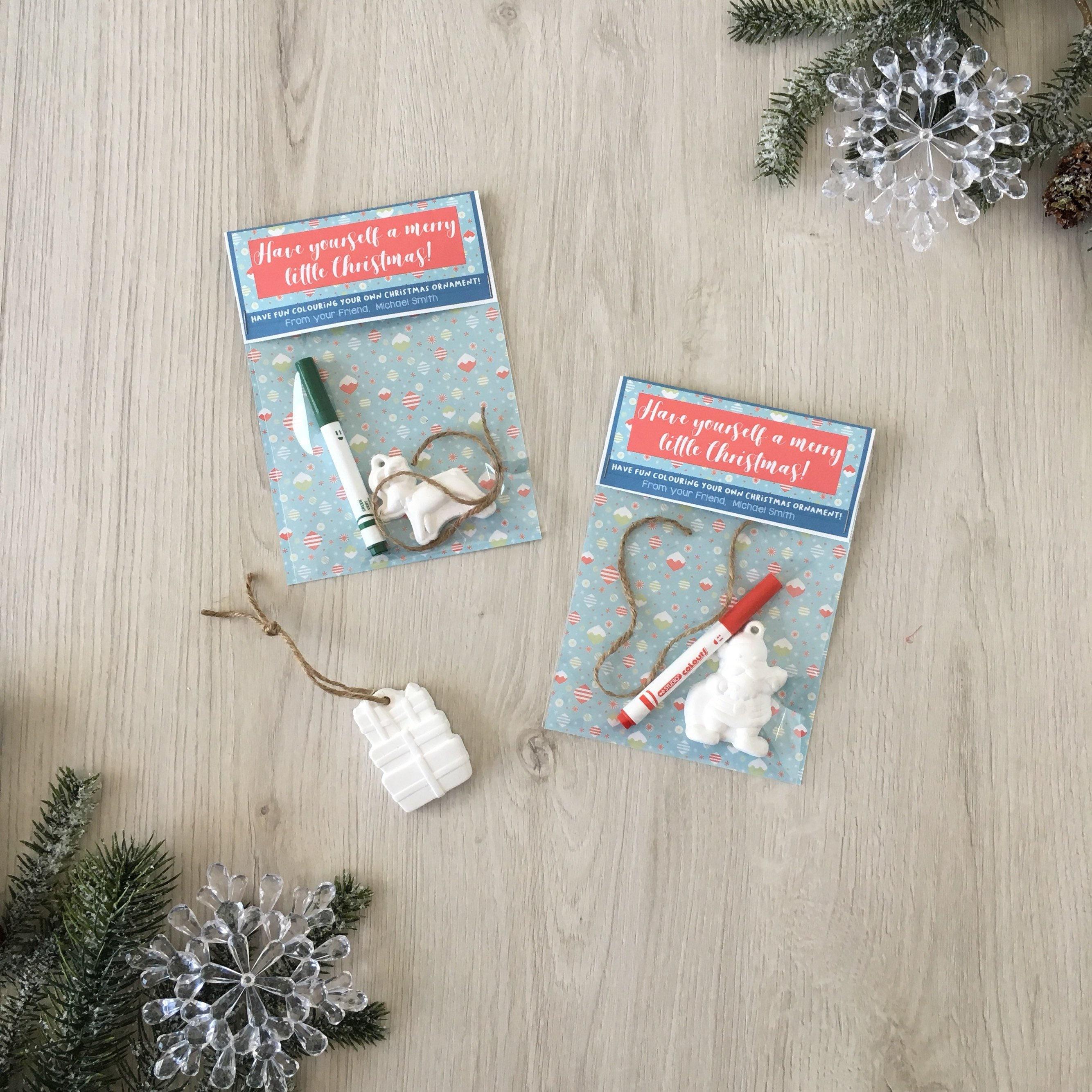 Colour your own ornament kit - Handmade Kids Christmas Classroom ...
