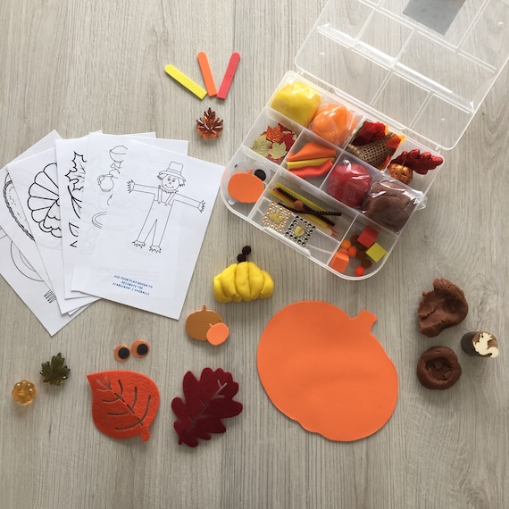 Fall / Thanksgiving Kids Sensory Play activity kit  includes