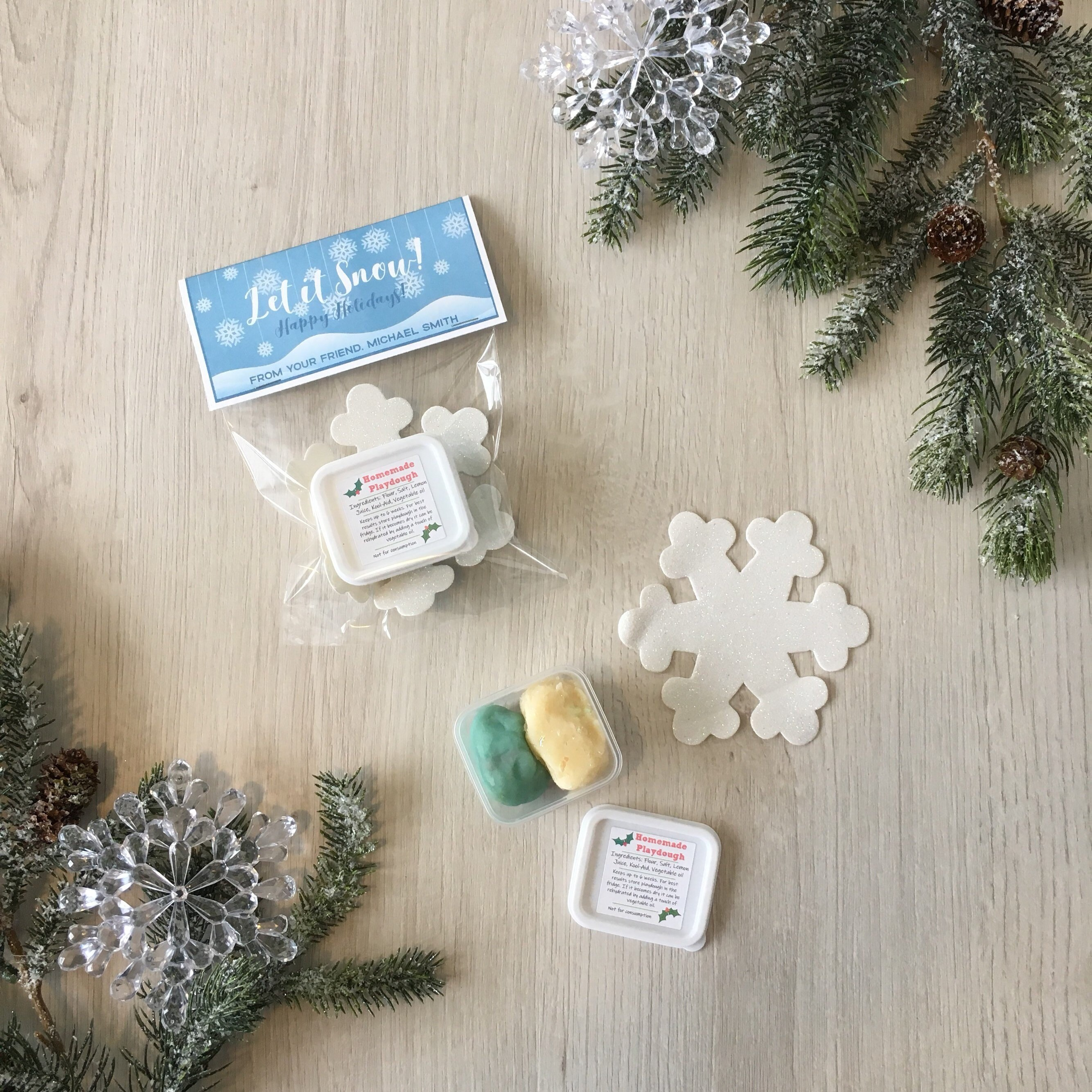 Holiday Snowflake Play Dough activity kit! - with snowflake shape ...
