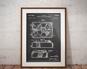 Unframed Poster Music Wall Art Gift Gramophone 1896 Patent Print