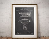 Anvil Patent Poster, Vise Patent Drawing, Combined Anvil and Vise Print, Blacksmiths Forge Wall Decor, Forge Blueprint, Gift for Blacksmith
