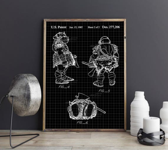 Gamorrean Guard 1985 Star Wars Ready To Be Framed! Patent Print