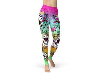 Yoga Leggings,Yoga Clothes, Yoga Wear, Printed Leggings, Womens Leggings, Womens Activewear, Festival Leggings, Womens Yoga Pants