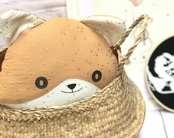 Fox Cushion - Decoration -Cushion -Customizable -Fox pillow -Woodland fox pillow - oeko tex fabric -baby decoration -nursery decor