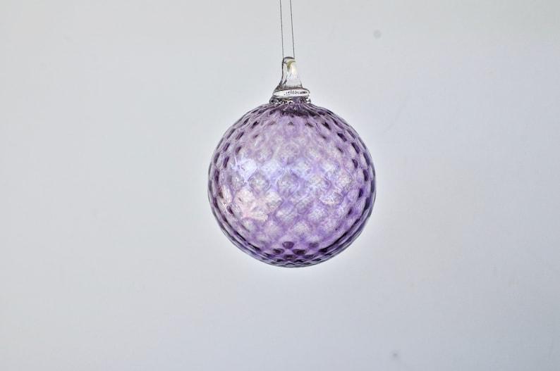 Hand Blown Glass Ornament: Amethyst Purple Glass Christmas image 0