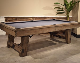 Restoration Hardware Inspired Pool TableRustic Otis Etsy - Restoration hardware pool table