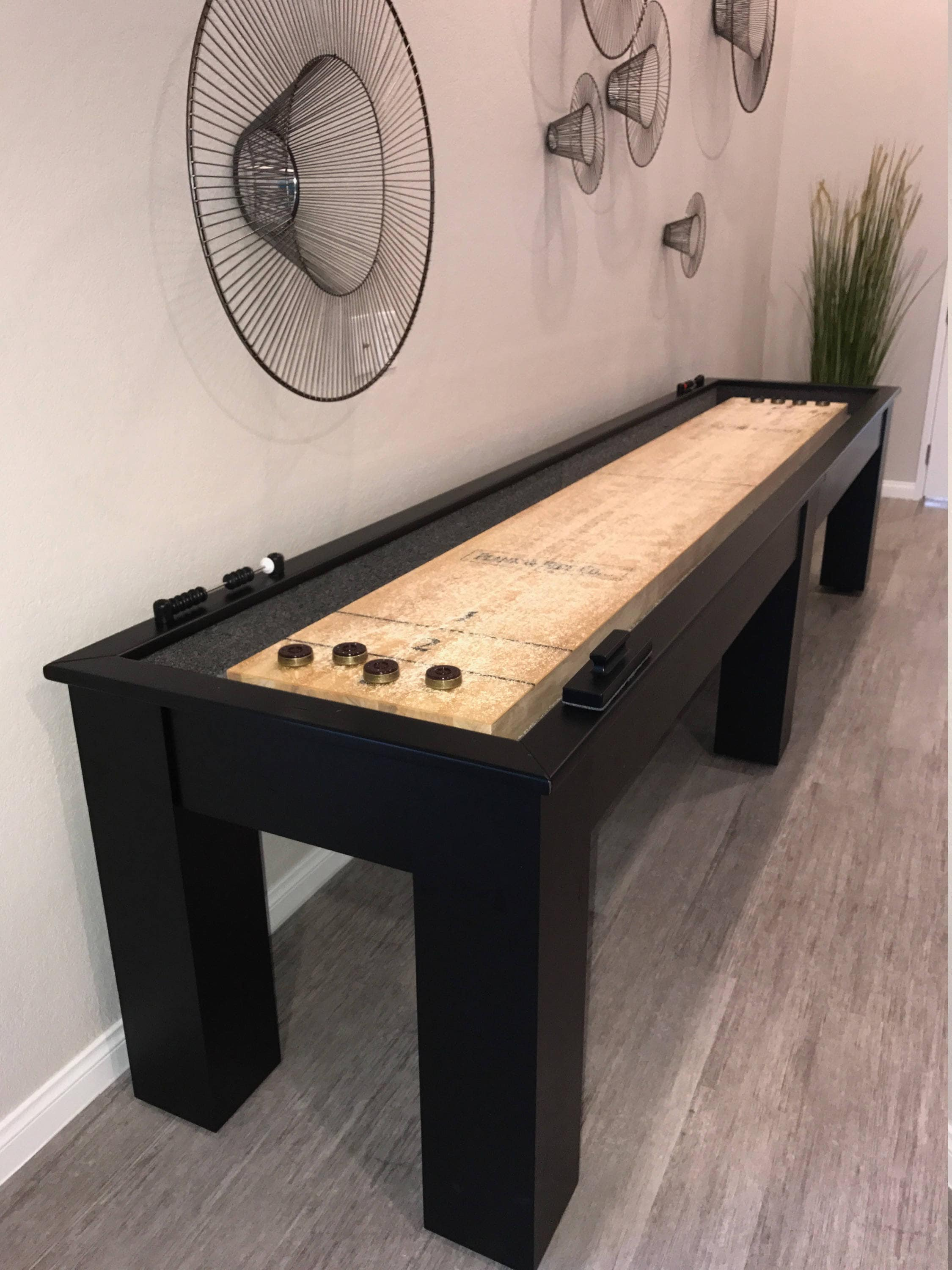12u0027 Shuffleboard Table Butcher Block Table Pool Table Billiards Game Room  Furniture Game Of Thrones Rustic Gaming Tables ManCave Bar Cabinet