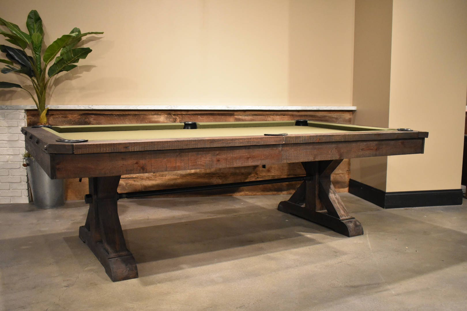 Restoration Hardware Inspired Pool TableRustic Otis Pool Table - Restoration hardware pool table
